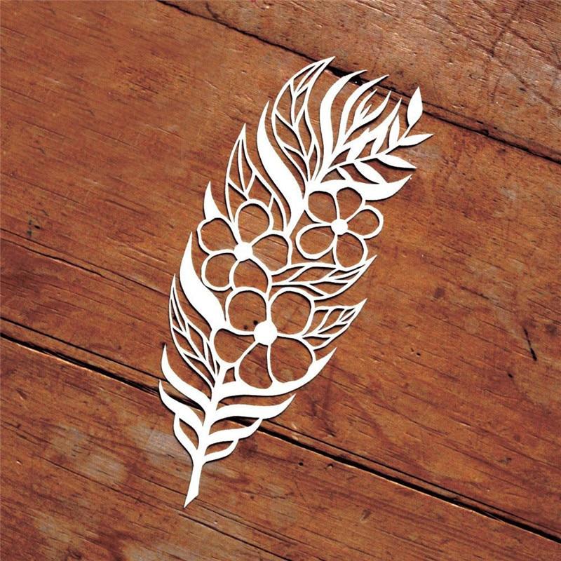 YaMinSanNiO Feather Floral Metal Cutting Dies 2019 For Craft Dies Scrapbooking Album Stencil Embossing Die New Cut Decoration