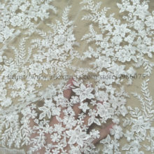 Fashion bridal wedding gown dress ivory lace farbic with sequins 130cm width bridal lace sell by yard