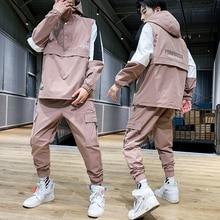 Casual tracksuit Set Men Fashion 2020 Sportswear Suits Sprin