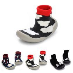 Нескользящая Осенняя Повседневная прогулочная обувь для маленьких девочек; Мягкие латексные носки с подошвой; дизайнерские первые