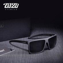 Óculos de sol masculino polarizado, óculos de sol clássico preto, masculino, polarizado, com caixa pl273, 20/20
