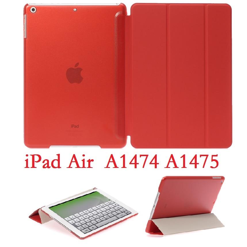 Ipadの空気1 9.7 'スリムフォリオスタンドcoque磁気A1474 A1475スマート自動睡眠pvc保護ipadの空気のため1カバー