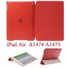Чехол для iPad Air 1 9,7 ''тонкий Чехол-книжка с подставкой Магнитный A1474 A1475 смарт-чехол с автоматическим сном защитный чехол из ПВХ для iPad Air 1 чехо...