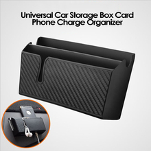 Car Storage Box Car Seat Crevice Card Phone Charging Cble Coin Holder Stickiness Organizer Reserved Bag ABS Auto Accessories
