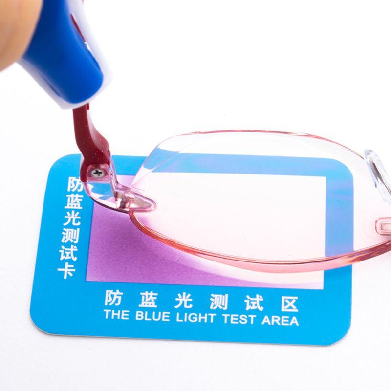 10pcs PVC Anti-Blue Light Test Card Test Light Glasses Blue Light Detection Card C63B
