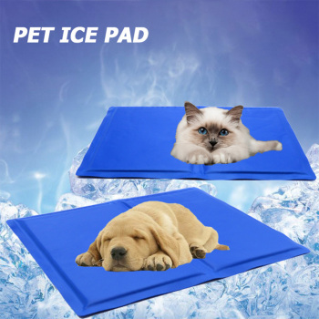 Multifunction Pet Cooling Mat Summer Cool Dog Bed Dog Cage Ice Gel Pad Car Seat Cover Pad Cat Play Sleeping Cushion 40x50cm image