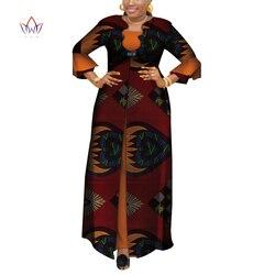 Vestidos Afrikanische Kleider für Frauen Dashiki Elegante Party Kleid Plus Größe Srapless Traditionelle Afrikanische Kleidung WY3880