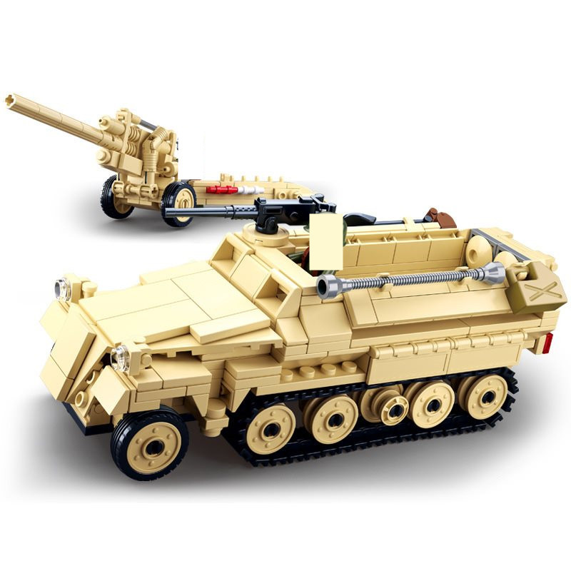 20PCS World War II Building Blocks USA Tank Rider Commando Mini Figure DIY Toy