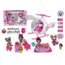 Lol surpresa bonecas brinquedos conjunto avião piquenique sorvete carro slide bolsa villa figuras de ação modelo lols brinquedos para presentes de aniversário