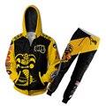 S-4XL Каратэ-Пацан Кобра куртка Kai толстовки 3D принт Анимация одежда косплей пальто толстовка на молнии с капюшоном, костюм