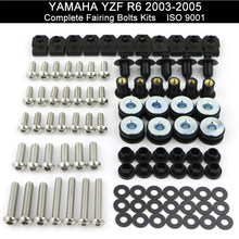 For Yamaha YZF R6 YZF-R6 2003 2004 2005 R6S 2006 2007 2008 2009 Full Fairing Bolts Kit Speed Nuts Screws Kit Stainless Steel(China)