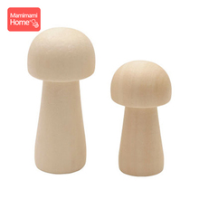 10pc Wooden Peg Doll Mushroom Handmade Blank Rodent Baby Teether Unfinished Decor ChildrenS Goods Christmas Gifts