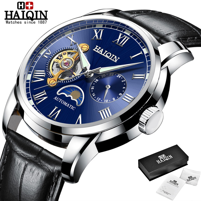 HAIQIN Mechanical watches mens automatic wrist watch for mens watches top brand luxury watch men Tourbillon relojes hombre 2020 19