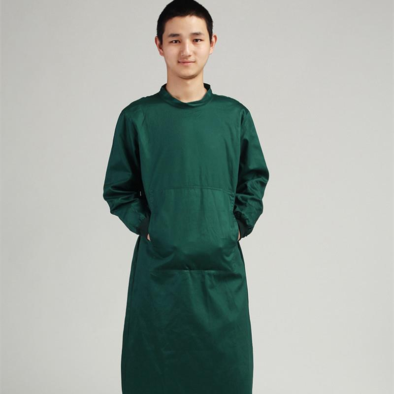 2020 Long Sleeve Surgical Clothing Hospital Scrubs Overalls Professional Insulating Clothes Operating Gown Medical Scrub Coat