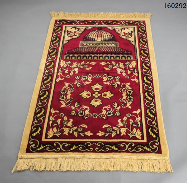 Vintage Islamic Muslim Prayer Mat Travel Prayer Home Decor Supplies Non-Slip Tassel Bedside Rug Geometric Floor Carpet LF969