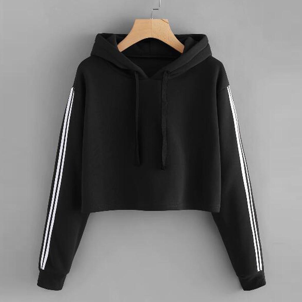 Kawaii Women Sweatershirt Hoodie Solid Lace Up Drawstring Long Sleeve Female Sweatershirt Tops Clothes moletom feminino inverno