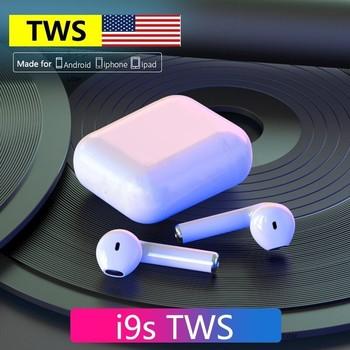 Original i9s TWS kabellose Kopfhörer Bluetooth-Kopfhörer Luft Ohrhörer Sport Freisprech-Headset mit Ladebox für iPhone und Android