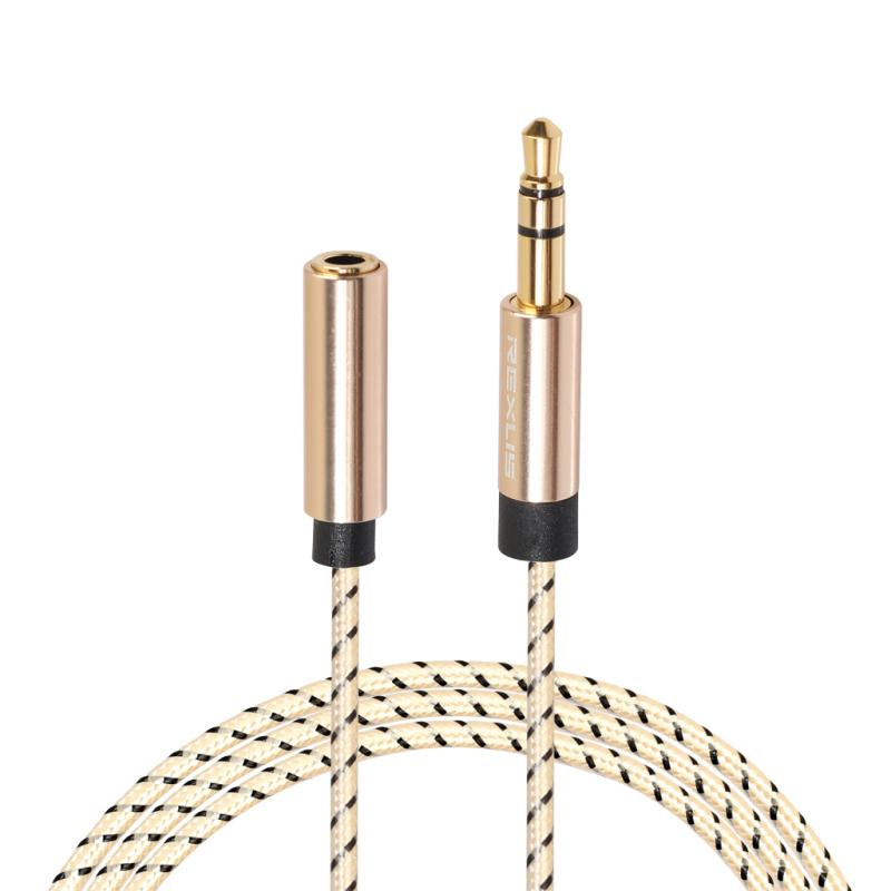 2019 New Earphone Accessories 3.5mm Jack Male To Female Headphone Stereo Audio Aux Extension Cord Cable NEW