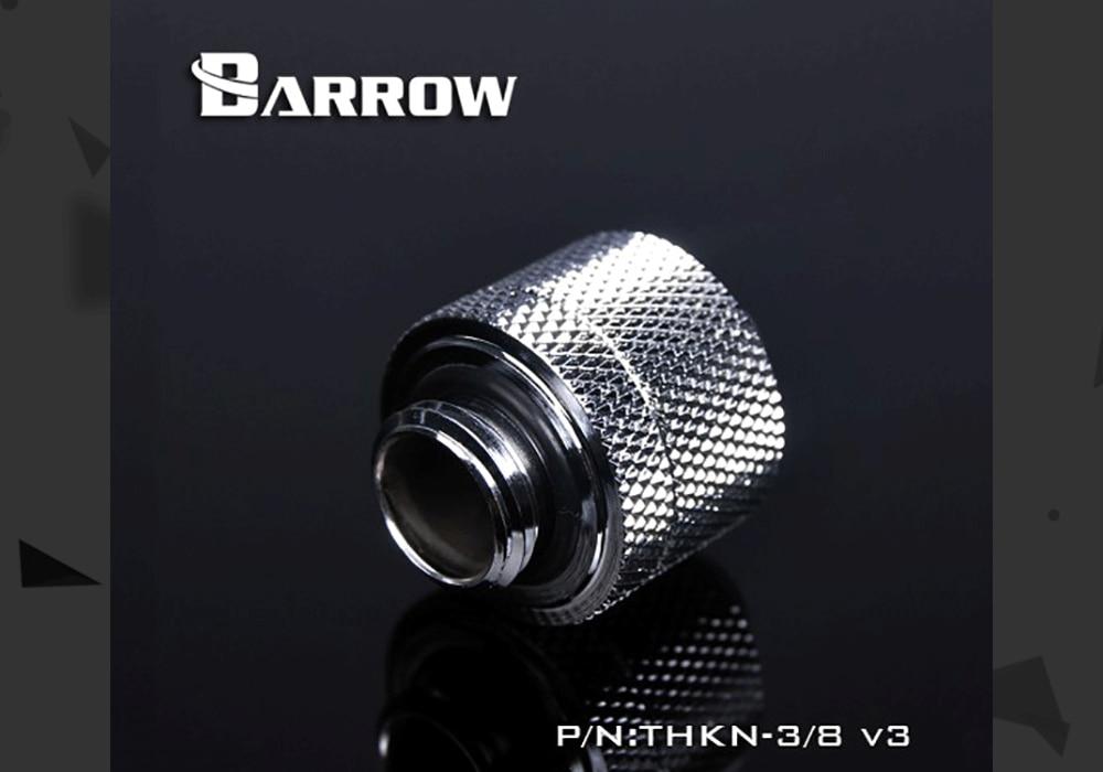 "Barrow THKN-3/8-V3, 3/8""ID*5/8""OD 10x16mm Soft Tube Fittings, G1/4"" Fittings For Soft Tubes"
