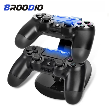 цена на Dual USB ps 4 Charging Stand Station Cradle PS4 Controller Charger Dock LED For Sony Playstation 4 PS4 / PS4 Pro Slim Controller