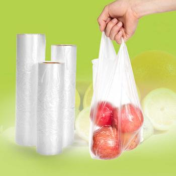 100Pcs Home Vacuum Fresh-keeping Bag Sealer Food Storage Packaging Film Pouch inner bag has an air passage for easy evacuation. image