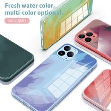 SoCouple akwarela malowanie szkło hartowane etui dla iPhone 11 12 Pro Max Mini dla iPhone SE 2020 X XS Max XR 7 8 Plus okładka