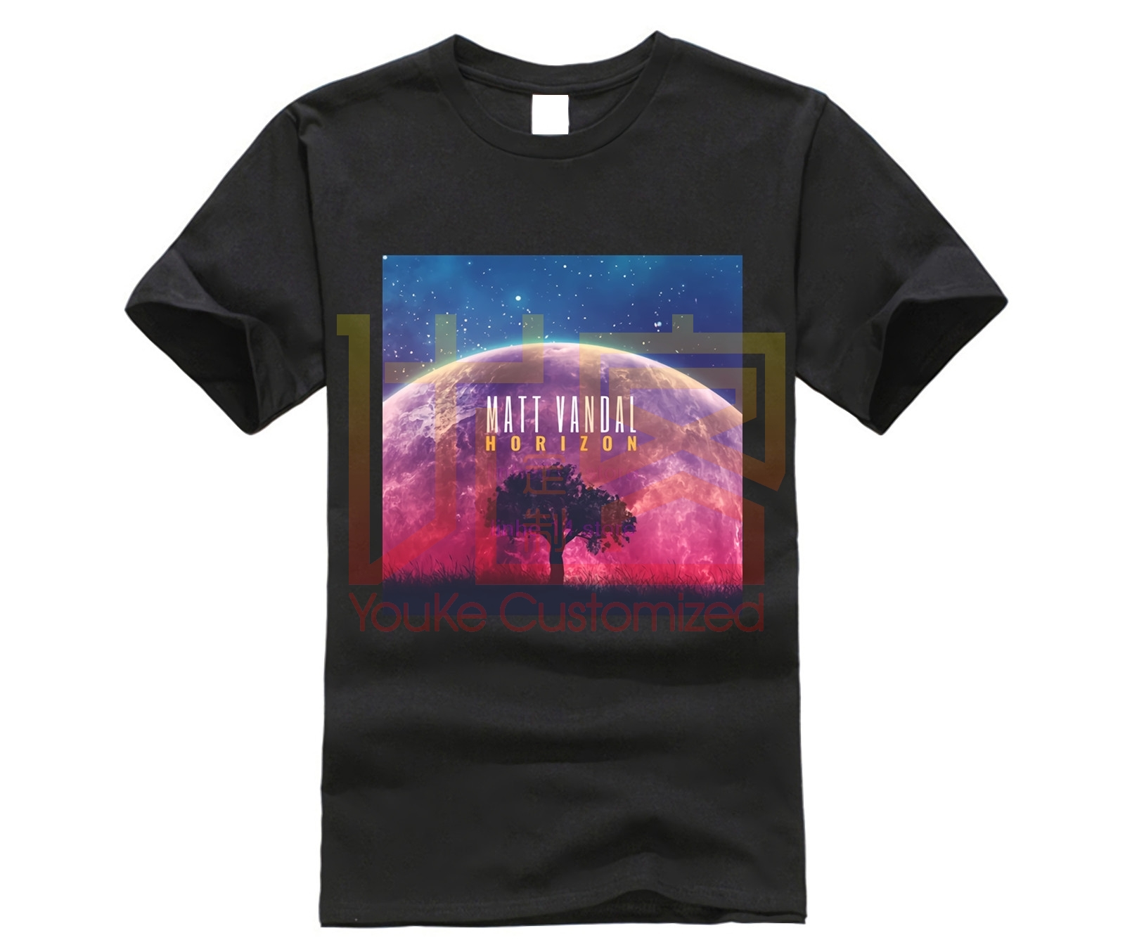 Matt Vandal Horizon Album Cover Jazz t-shirt Printed t-shirt Crew Neck Short Sleeve Casual t-shirt image