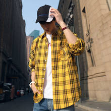 Casual Plaid Flannel Plaid Shirts for Men Fashion Oversized