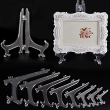 Plate Easel-Holder Display-Stand Picture-Frame Plastic Transparent Fashion Clear 1pc