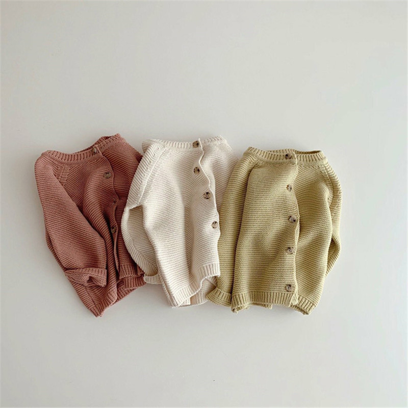 Lawadka Spring Autumn Newborn Baby Girls Boys Sweater Cardigan Knitted Infant Girl Knitwear Fashion Solid Toddler Clothes 2021