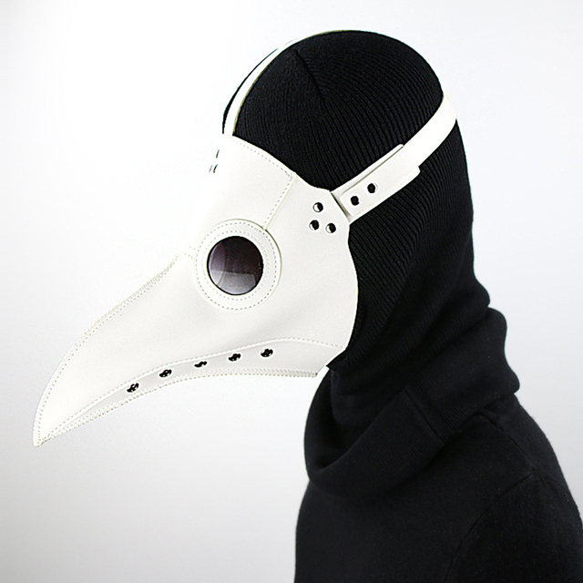 High Quality Punk Leather Steam Plague Bird Beak Mask Halloween Cosplay Prop Plague Doctor Party Carnival Easter Gothic Style 5