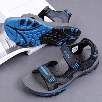 Men sandals 2020 summer shoes non-slip breathable men beach shoes flat casual sandals sandalias hombre size 38 - 45
