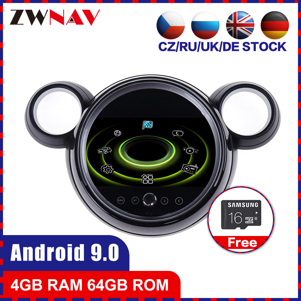 4+64 touch screen Android 10.0 Car multimedia Player for Mini one F55 F56 Cooper 2015+ car radio video stereo head unit gps navi image