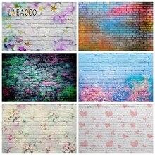 Laeacco Dark Brick Wall Graffiti ritratto di bambino Grunge fondali fotografia vinile sfondi fotografici per Studio fotografico fotofono