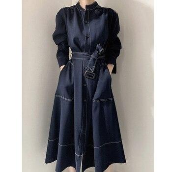 [EWQ] 2021 Autumn New Long Sleeve Simple And Fashionable Ladies Coat 1 Casual Ladies Trendy Clothing Women's Windbreaker 1