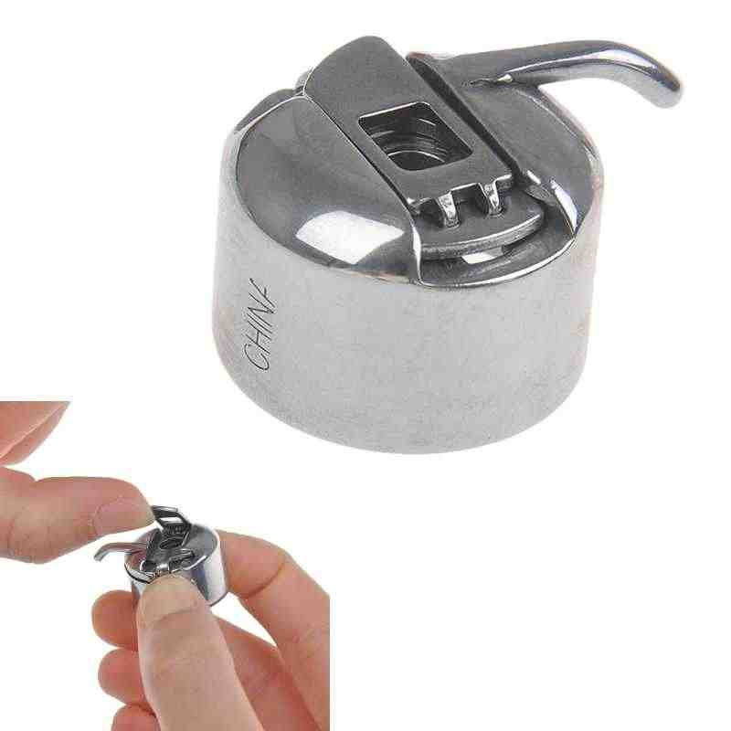 Een Stuk Metaal Zilver Naaimachine Spoel Spool Case Naaimachine Accessorries