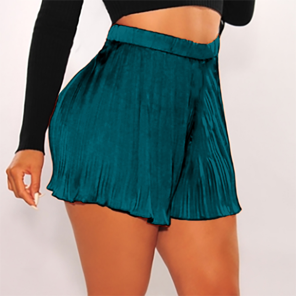 Ladies  Summer New Fashion Casual Solid Soft Short Pants Women Hot Sexy Casual Mid Waist Elastic waist Loose Comfy Shorts D30