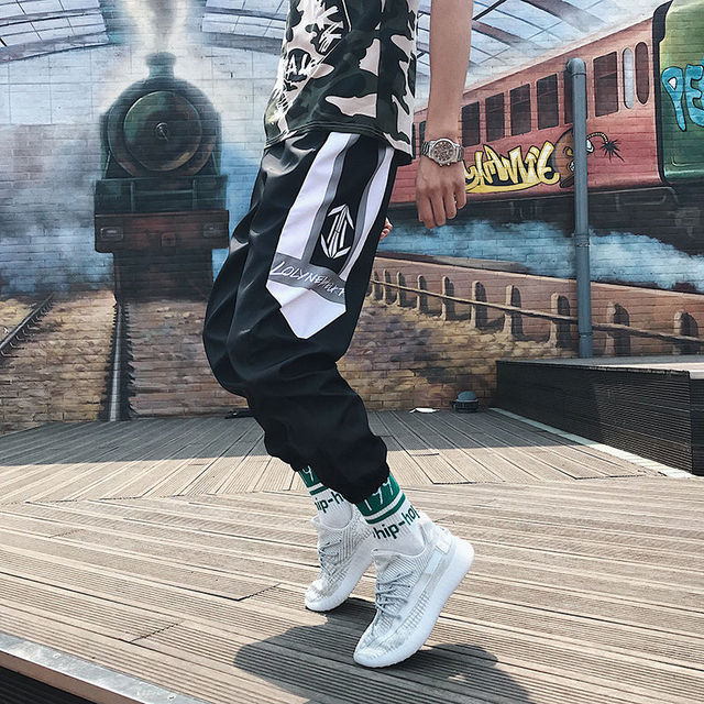 Streetwear Hip hop Joggers Pants Men Loose Harem Pants Ankle Length Trousers Sport Casual Sweatpants White Techwear 3