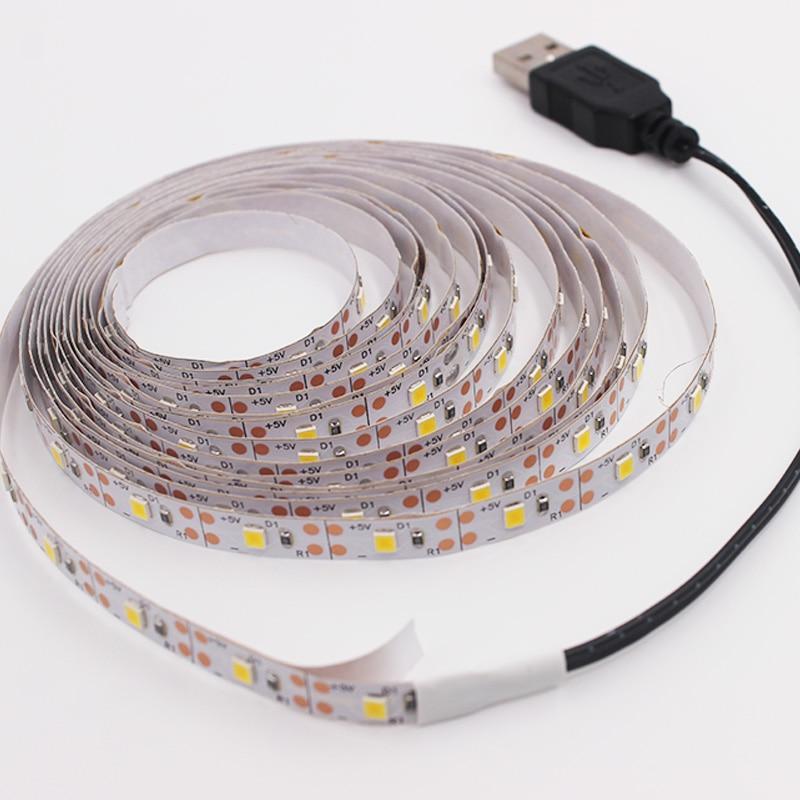 RGB LED Strip Light 2835 DC 5V Ribbon Waterproof/No Waterproof Flexible LED Diode Tape 60LEDs/m 5M LED Strip For Home Decoration