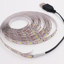 A fita flexível impermeável do diodo emissor de luz 60leds/m 5m conduziu a tira para a decoração de casa a luz de tira conduzida rgb 2835 dc 5v fita impermeável/não impermeável