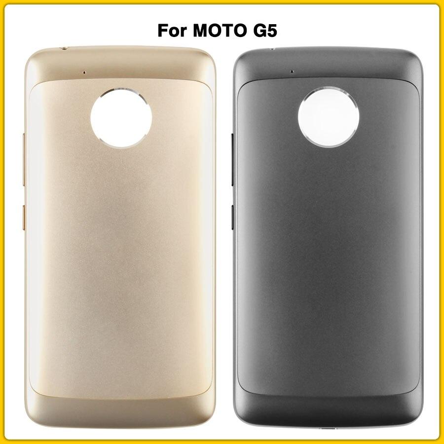 New Rear Moto G5 Housing Case For MOTO G5 XT1672 XT1676 Back Cover Battery Door XT1672 XT1676 Replacement Parts