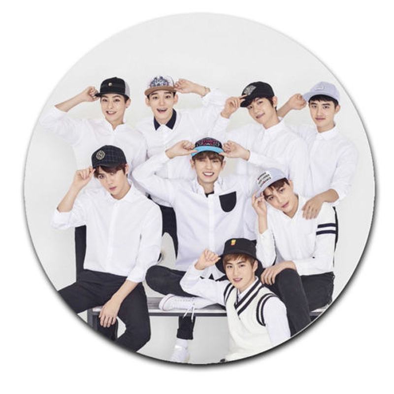 Kpop EXO Badge Chanyeol Sehun Brooch Pin Christmas Gift Chest Pin Badge Souvenir