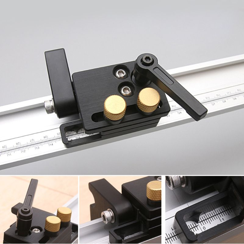 Miter Track Stop For T-Slot T-Track Chute Limit Locator Durable Woodworking Tool Dropshipping 63HF