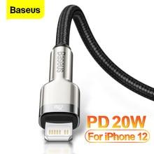 Baseus – Câble USB Type C, USBC, USB-C PD de 20W de chargeur d'appareils, pour iPhone 12 Pro Max 11 X Xr Xs, iPad Air 4, charge rapide