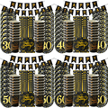 1 комплект, 30-е, 40-е, 50-е, 60-е, день рождения, вечерние украшения, принадлежности для юбилейной вечеринки, золотая, черная, бумажная салфетка под...