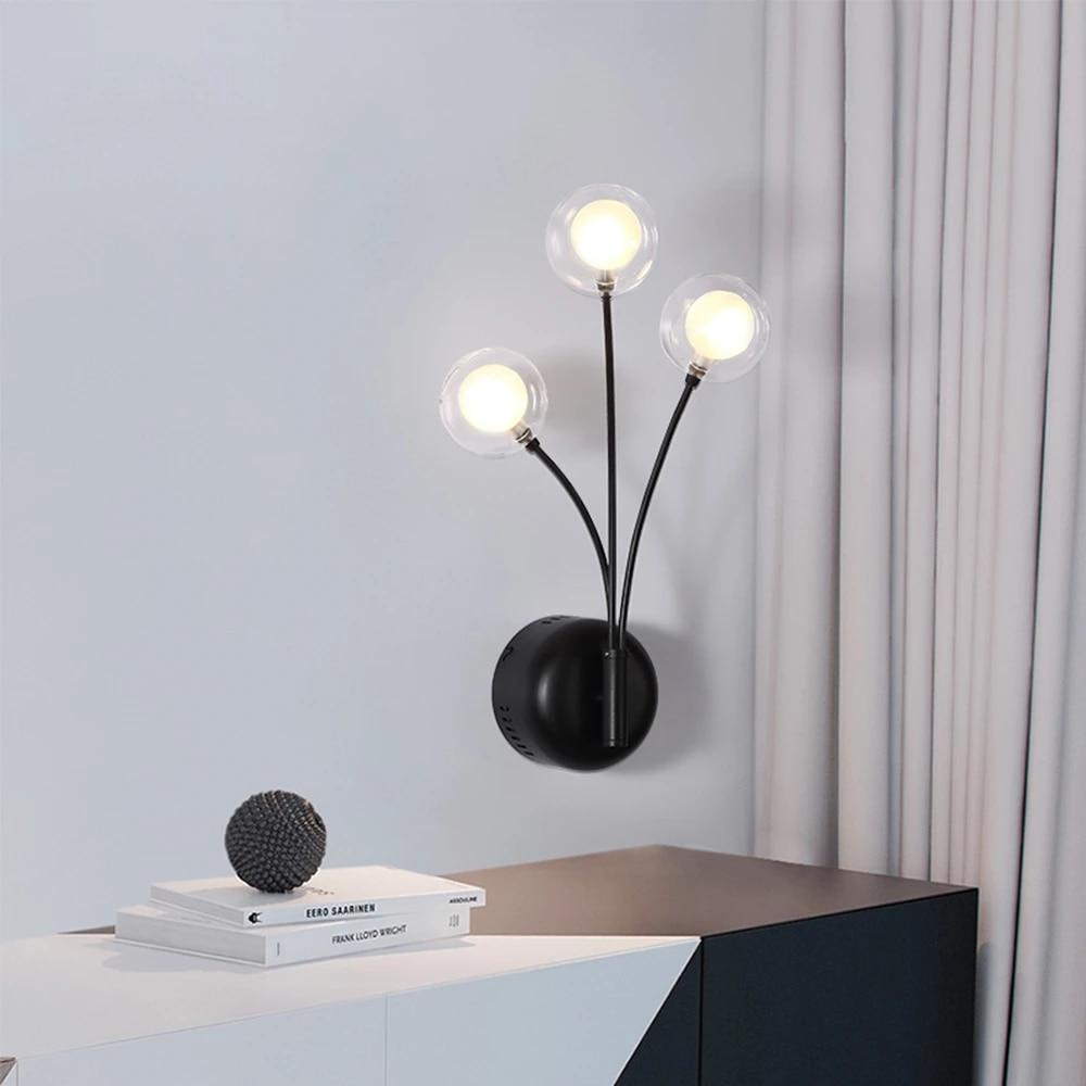 Nordic Black Wall Lamp Wholesale Cheap Wandlamp Bedroom Led Wall Light Study Modern Wall Lights Indoor Lighting Deco Living Room Led Indoor Wall Lamps Aliexpress