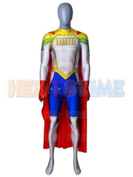 Lemillion Mirio Togata My Hero Academia Cosplay Costume With Cape Superhero Spandex Jumpsuit