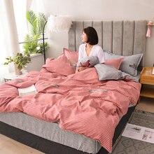 Набор постельных принадлежностей в скандинавскую полоску современный