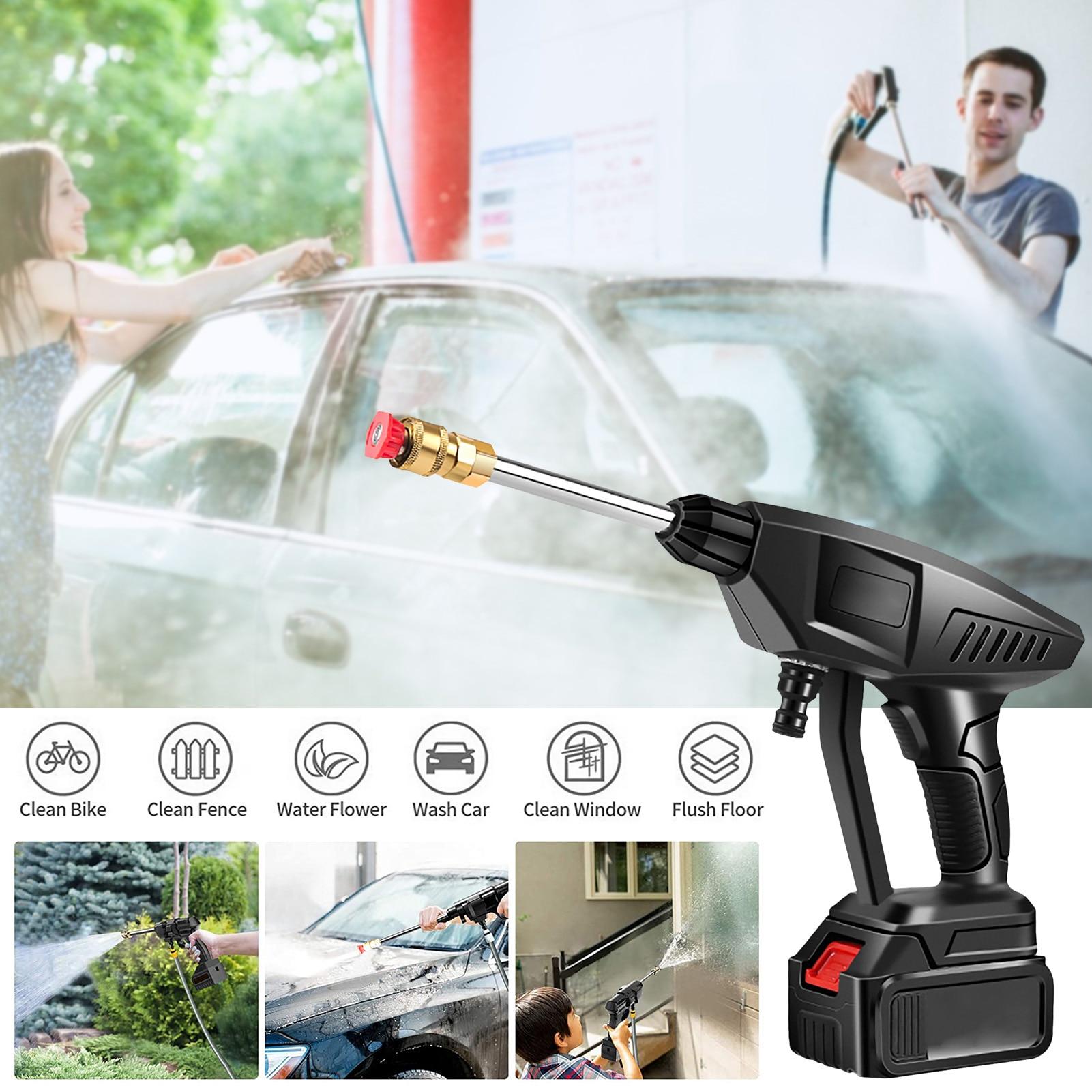 Cordless Pressure Washer Portable Multi-function Power Cleaner High Pressure Car Washer Car Wash Water Gun Garden Tool Hot Sale