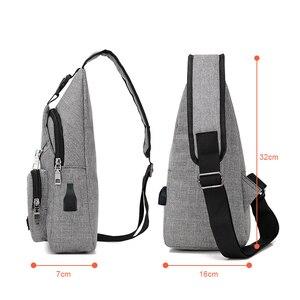 Image 4 - Acoki USB Lade Schulter Crossbody tasche Männer Einbrecher Stealth Zipper Elektronische Kit Brust Pack Abweisend tasche Anti diebstahl Pack